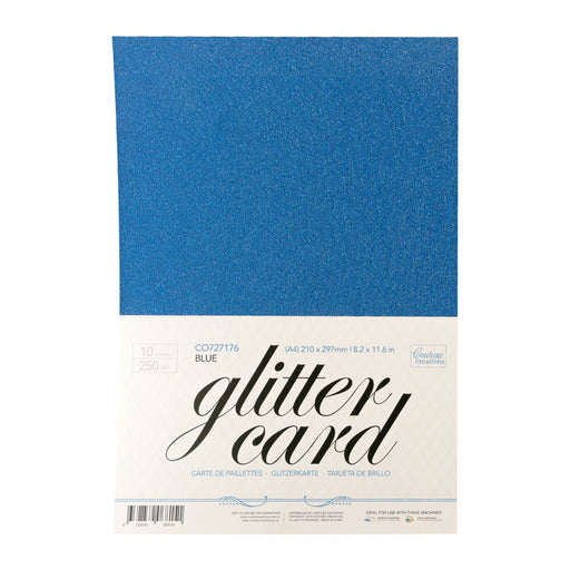 Couture Creations A4 Glitter Card Blue