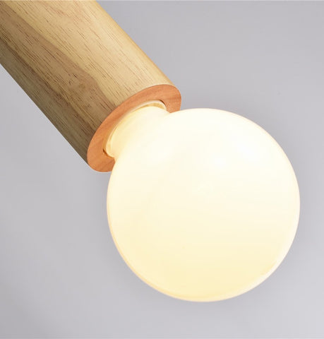 Image of Solid Wood Single Pendant Lamp - Natural