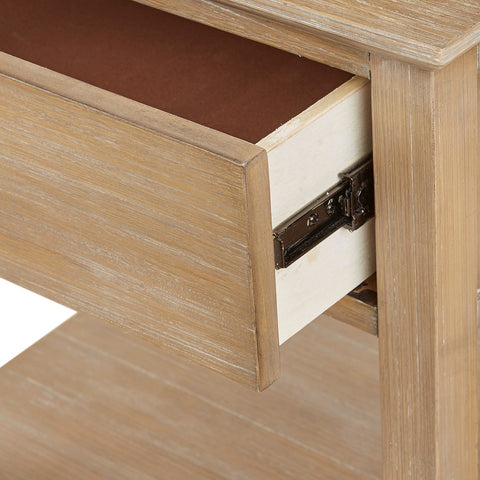 Victoria Bedside Natural Wood Table ETA 11/11/2020