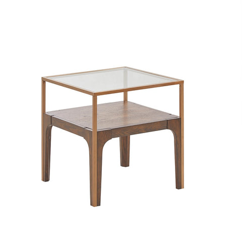Image of Clover Antique Gold End Table