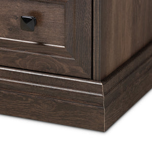 5-Drawer Nolan Traditional Hazel Walnut Brown Finished Wood Chest