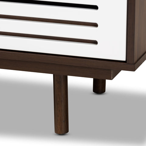Image of 6-Drawer Baxton Meike Mid-Century Modern Walnut Brown Dresser