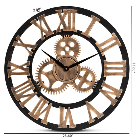 Image of Randolph Industrial Vintage Wooden Clock