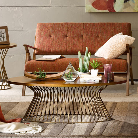 Mercer Bronze Coffee Table