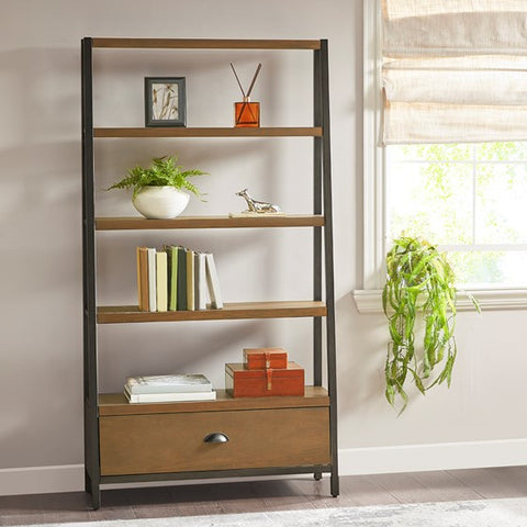Image of Seymore Brown Bronze Bookcase