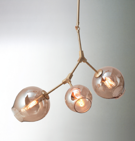 3-Globe Bubble Pendant Lamp