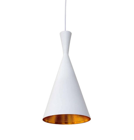 Beat Shade Tall Pendant Lamp - White - Reproduction