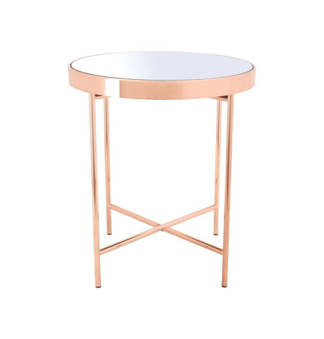 Image of Xander - Copper Coffee Table with Mirror Top - Small