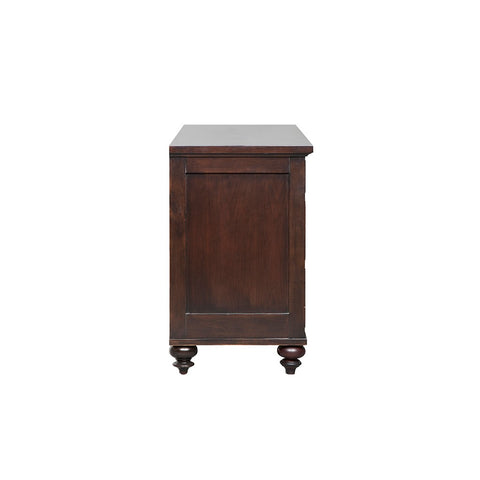 Image of 7-Drawer Conner Dark Mahogany Dresser