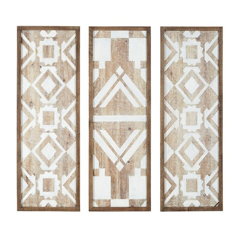 Mandal Printed Wood Wall Decor Set