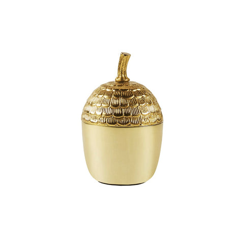 Acorn Gold Accent Container