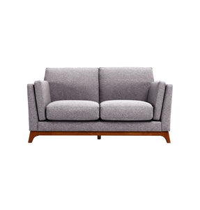 Chloe Loveseat 2 Seater Sofa - Pebble & Cocoa