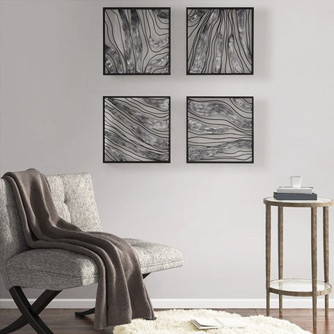 Slate Metal Wall Decor Set