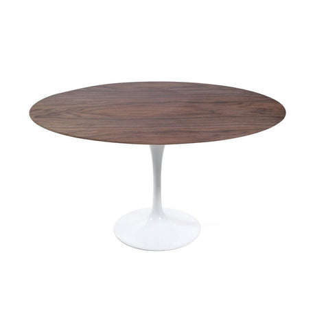 Image of Tulip Dining Table - Round - Walnut/White Oak/Ash Top - Reproduction