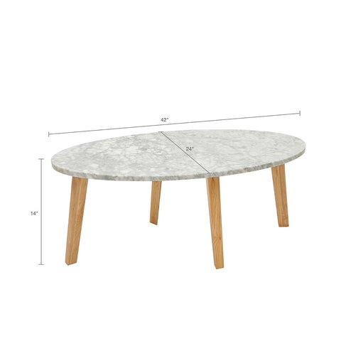 Image of Milo Marble Coffee Table