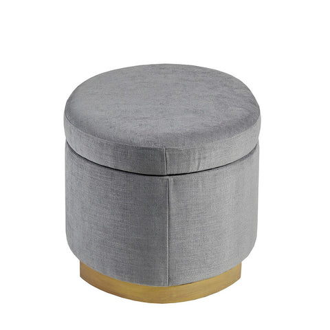 Image of Adina Grey Storage Ottoman