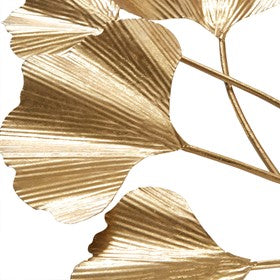 Celeste Gold Ginkgo Leaf Wall Art