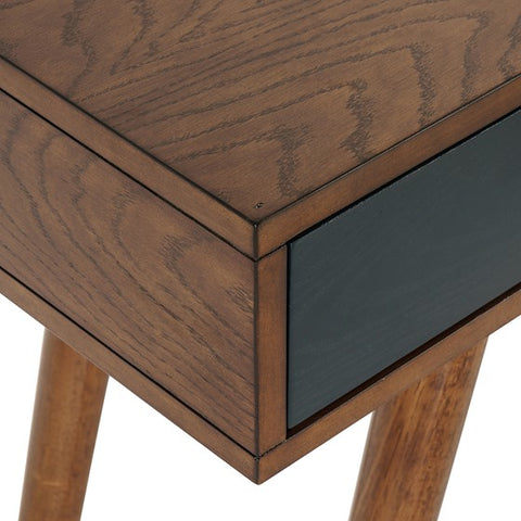 Rigby 3 Drawer Blue Pecan Writing Desk