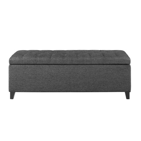 Image of Shandra Charcoal Tufted Top Storage Bench