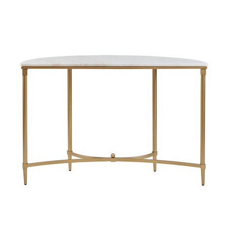 Image of Bordeaux White Gold Console Table