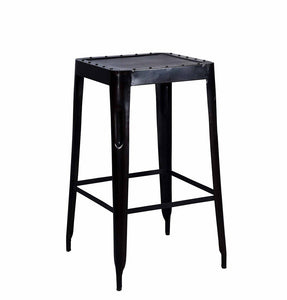 Industrial Bar Stool Big Raw Metal