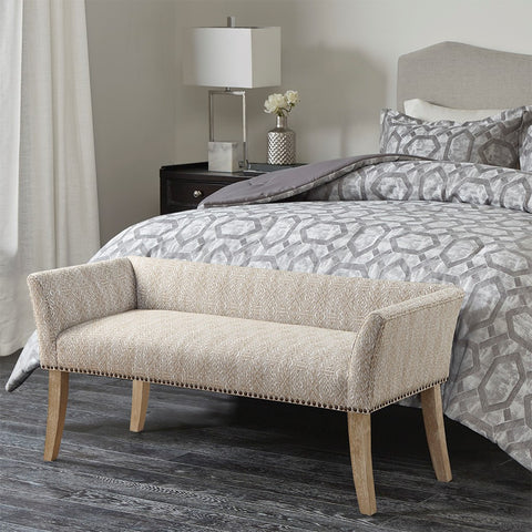 Welburn Taupe Accent Bench