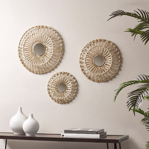 Ella Corn Leaves Wrapped Metal Wall Decor Set
