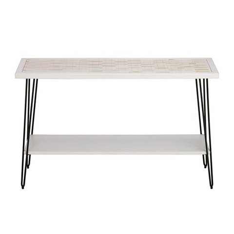 Image of Woodbrick White Console Table (Almost Gone)