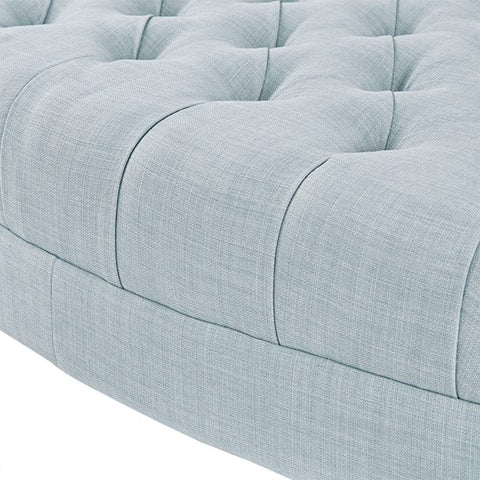 Image of Martin Surfboard Light Blue Tufted Ottoman (Almost Gone)