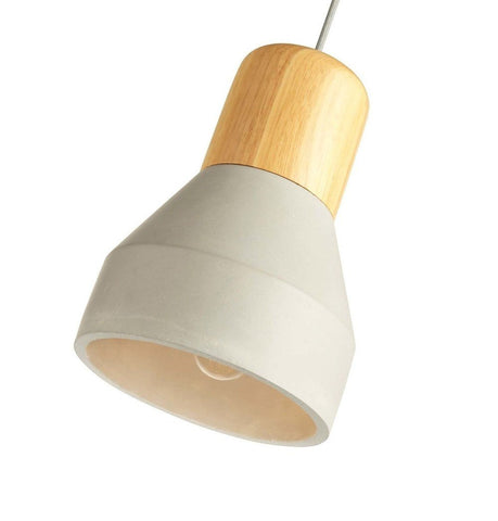 Image of Concrete Pendant Lamp - With Wood Part