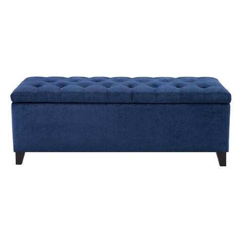 Shandra Navy Tufted Top Storage Bench