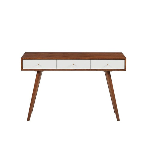Rigby 3 Drawer White Writing Desk