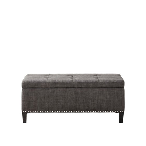 Image of Shandra II Tufted Top Charcoal Storage Bench