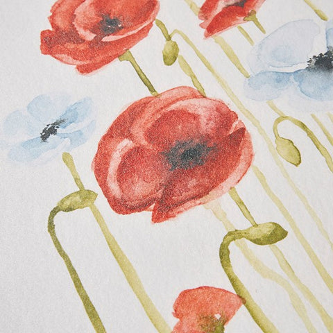 Poppy Gel Coated Canvas Set
