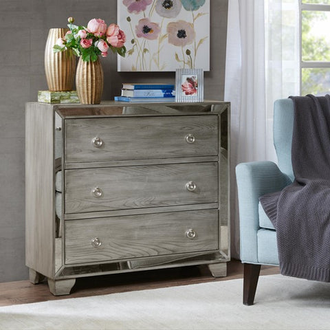Image of Garner 3-Drawer mirrored Chest (Almost Gone)