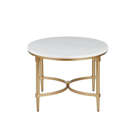 Image of Bordeaux White Marble Coffee Table