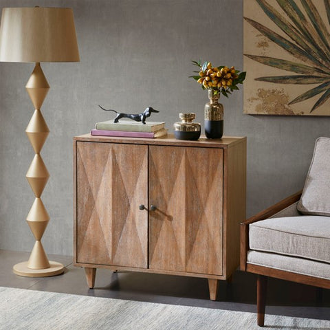 Image of Adeline 2 Door Brown Accent Cabinet