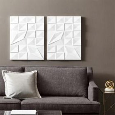 Image of Geo Tempo Carved Wall Panel Set (ETA 11/05/2020)