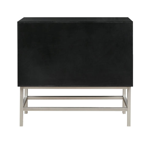Image of Sonata Accent Black Chest with 2 Drawers