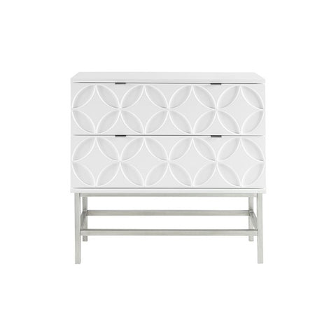Sonata Accent White Chest with 2 Drawers (ETA 10/07/2020)