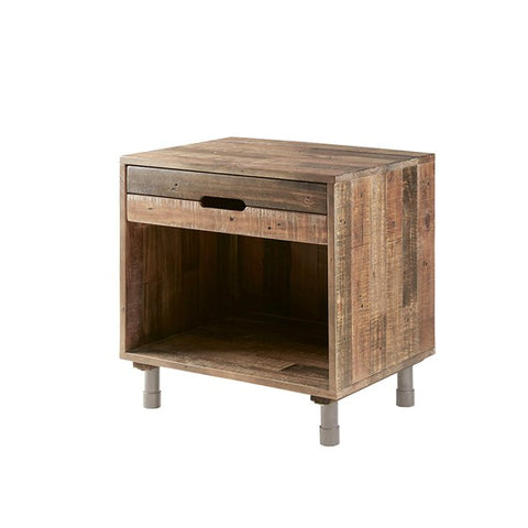 Renu Solid Natural Wood Nightstand