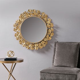 Image of Eden Gold Foil Ginkgo Mirror