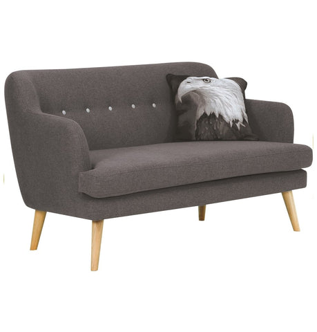 Image of Exelero Loveseat 2 Seater Sofa - Battleship Grey