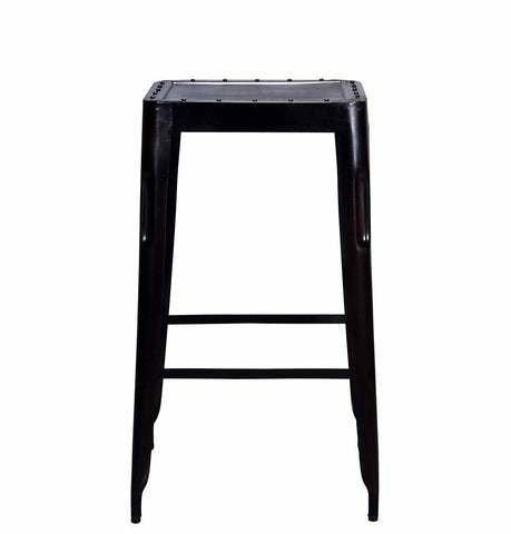 Image of Industrial Bar Stool Big Raw Metal