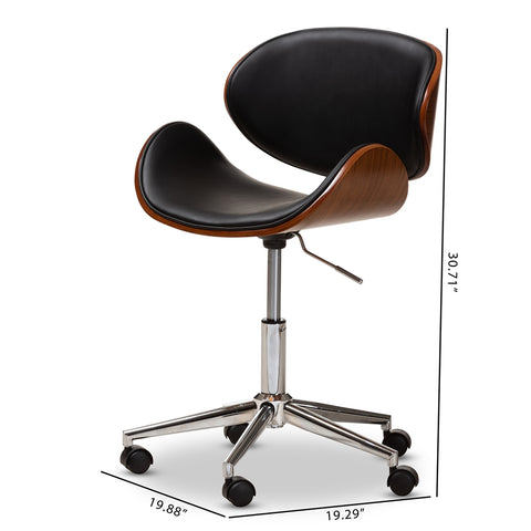 Ambriosio Modern Leather Swivel Chair