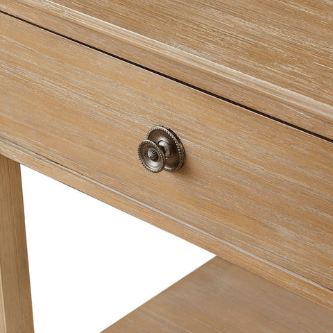 Image of Victoria Bedside Natural Wood Table ETA 11/11/2020