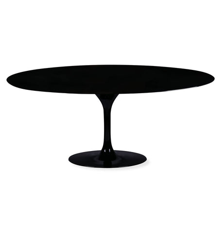 Image of Tulip Dining Table - Oval - Fiberglass Lacquer Top - Reproduction