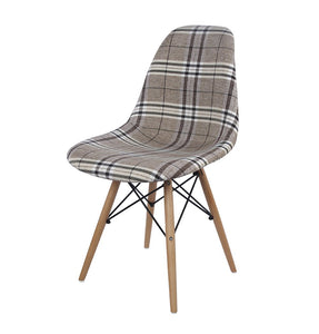 Reproduction of Eiffel Chair - Upholstered - Fabric E03