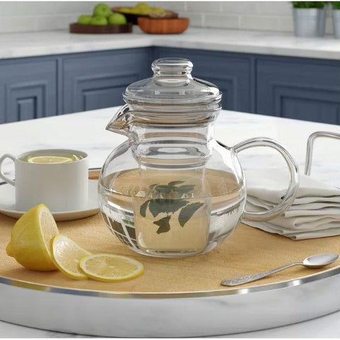 Image of Borosilicate Glass Stovetop Safe Teapot with Glass Tea Infuser