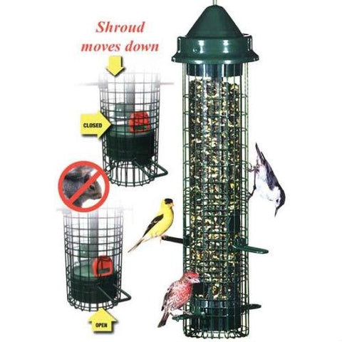 Image of Squirrel-proof Bid Feeder - Hold 1.4 Quarts of Bird Seed